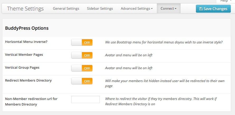 Ultimatum Connect for BuddyPress Settings